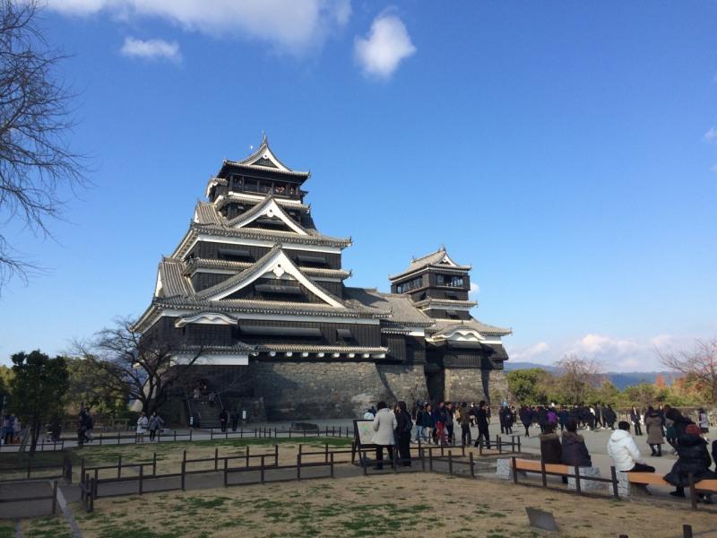 晴天の熊本城
